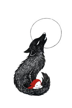 "Saatchi Online Artist: Indrė Bankauskaitė; Pen and Ink, Drawing ""Red riding hood"""