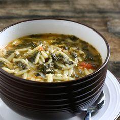 Spinach Tomato Orzo Soup