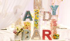 Candy Bar is a fun idea for a country wedding!