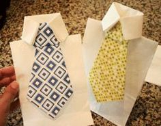 tie goodie bags- Perfect for a Little Man Mustache and Tie party or Fathers Day!