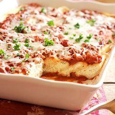 Three-Cheese Manicotti Recipe   Food Recipes -