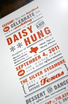 Texas, rustic wedding ideas - Texas Wedding Invite