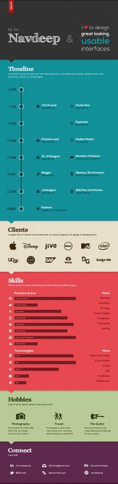 Navdeep Raj's Resume. 20 Innovative Resume Examples. #resume #design #inspiration #identity