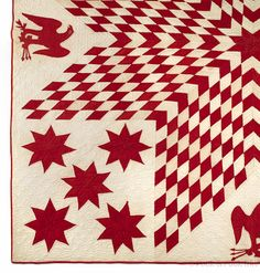 lone star and eagle quilt, late 19th c.