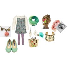 spring fling, created by candinoftz on Polyvore
