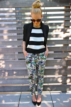 Pattern Mixing pt. 2 // 51 Cute Work Outfits to Wear This Summer