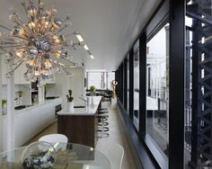 #Modern  #kitchen #chandelier #light fixture. Love it! Need this chandelier!
