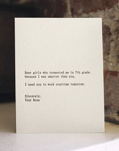 dear girls letterpress card by shopsaplingpress on Etsy, $4.50