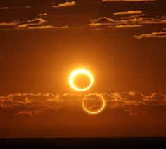 RING OF FIRE SOLAR ECLIPSE: As the sun rose over Australia on Friday morning, May 10th, the solar disk turned into a ring of fire. The day began with an annular solar eclipse.  Nicole Hollenbeck took the picture from inside the narrow path of annularity about 70km south of Newman, Australia. At the time, more than 95% of the suns diameter was covered by the Moon.  Credit: Spaceweather.com / Nicole Hollenbeck