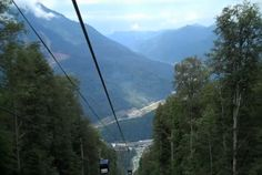 The view from the gondola in Sochi, Russia-The Olympic torch route begins Oct. 7, 2013 and will be the longest in history. Opening Ceremony will kick off Feb. 7, 2014, Closing Ceremony will be Feb. 23, 2014.