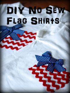 No Sew Flag Shirts