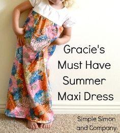 Tutorial: Little girl's summer maxi dress · via Simple Simon & Co.