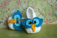 Crochet patterns, crochet baby pattern, crochet baby booties pattern crochet owl baby slippers #crochetbaby #crochetshoes