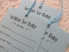 Set of 25 Baby Shower Wishing Tree Tags  by FreeSpiritCrafting, $12.99