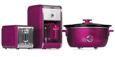Bella Dots Collection: Toaster, Coffee Maker and Slow Cooker - Fushia Pink #BellaDots #BellaLife