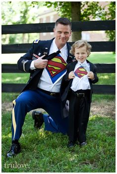 Trulove Photography: Alicia and Josh {Arrington Tennessee Wedding} Father son pictures. Superman