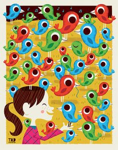 Field of Birds by tad carpenter, via Flickr