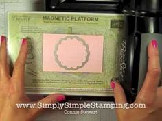 Simply Simple Solution to Cutting Plate Marks on Cardstock by Connie Ste...