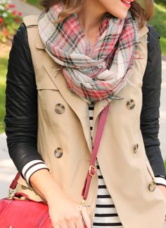 Don't be afraid to mix your favorite prints for great fall styles.