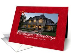 New Home Photo Christmas Card | Christmas | Greeting Card Universe by Robin Chaffin