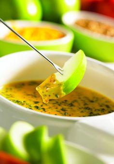 Cheddar Cheese Spinach Fondue