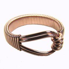 14kt rose gold filled wire wrapped ring Custom designer jewelry Australian Designer MSIA team jewellery