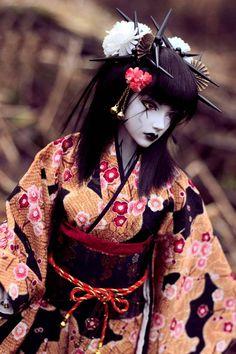 Geisha #Goth girl doll