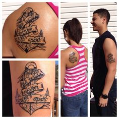 Brother and Sister tattoo (We will never drift apart) tattoos, anchor