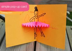 ballerina card - super cute and customized! A little girl would love it!