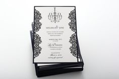 Simply Elegant Wedding Invitation Look 26 by PreciousInvitations, $20.00