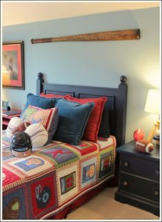Boy Bedrooms! See some sports themed bedroom ideas you can do yourself!