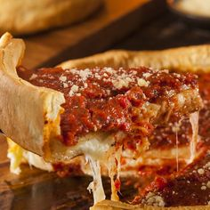 Who doesn't love a Chicago style pizza crust? This recipes comes with the homemade crust and also the delicious toppings.. Chicago Style Pizza Crust Recipe from Grandmothers Kitchen.