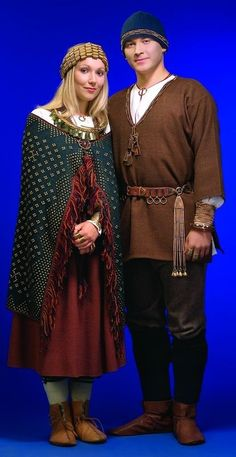 Latvian traditional clothing from the 7th-13th centuries.