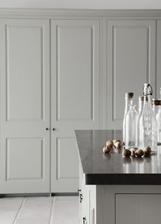 Blind brook on pinterest shaker kitchen cement tiles for Plain english cupboards