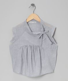 Take a look at this Gray Gingham Caper Top - Girls on zulily today!