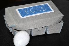 Shelley Inspired: Felt Egg Carton & Paper Mache Eggs