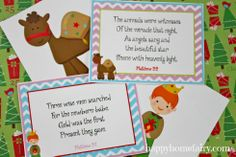 Cute Nativity Story 12 Days of Christmas