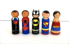Superhero Wedding Cake Toppers