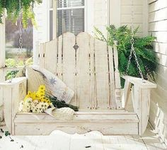 decor, cottag, idea, porch swings, outdoor