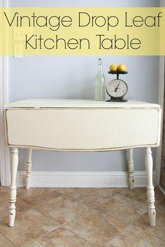 Vintage Drop Leaf Kitchen Table @adiamondinthestuff
