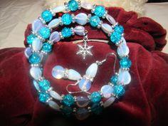$10 Genuine Moonstone Bracelet & Earrings on @Tophatter