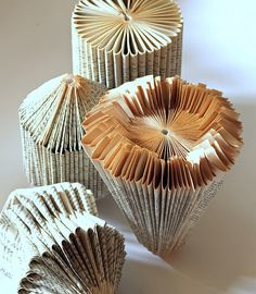 Vintage Book Craft - remember the little christmas trees we would make from old readers digest magazines?