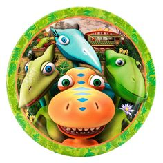 Absolutely Prehistoric| Prehistoric Party| Party Goods: Dinosaur Train Dinner Plate 8 Count