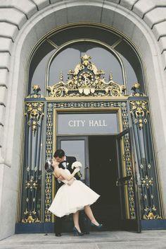 Vintage san francisco city hall wedding