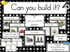 Can you build it?  Block Center Idea Posters to add to block area--also includes recording sheet