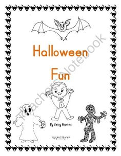 Halloween Fun Math Packet from TheSpecialtyShop on TeachersNotebook.com -  (18 pages)  - Fun Halloween math packet that includes patterning, counting objects to 10, ten frames coloring sheet, missing numbers on 120 chart, graphing, addition to 10, subtraction, puzzle fun.