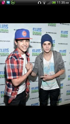 Austin mahone and Justin bieber! #Fangirling