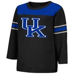 Kentucky Wildcats Toddler Sideline Ringer Three-Quarter Sleeve T-Shirt - Black