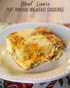 Meat Lovers Puff Pancake Breakfast Casserole | Plain Chicken