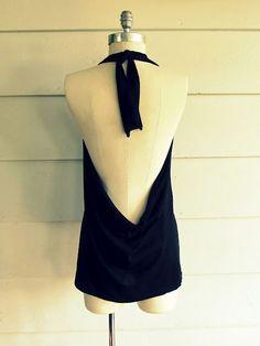 No sew tee refashion into a halter dress. Brilliant...